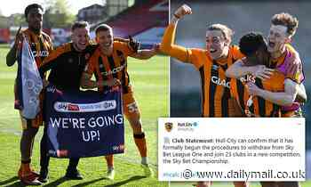 Hull City mock European Super League after securing promotion back to Championship with Lincoln win
