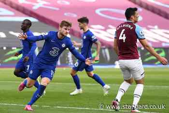 West Ham 0-1 Chelsea FC: Timo Werner boosts Blues' Champions League hopes as Balbuena sees red
