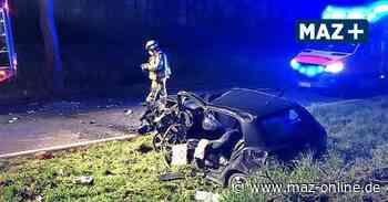 Unfall bei Gransee: 57-Jähriger schwer verletzt - Märkische Allgemeine Zeitung