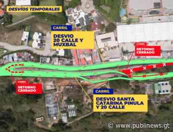 Cierres por construcción de paso a desnivel Santa Catalina Alejandría - Publinews Guatemala