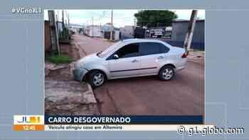 Carro desgovernado invade portão de casa em Altamira, sudoeste do Pará - G1