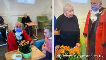 Care home residents enjoy a surprise visit from the Mayor of Hounslow, Tony Louki - In Your Area
