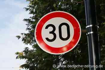 Straße oder ganze Zone mit Tempo 30 - Schwanau - Badische Zeitung