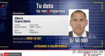Ofrecen 50 mil soles de recompensa por sujeto que habría asesinado a sus exparejas en Satipo y Lima - Diario Correo