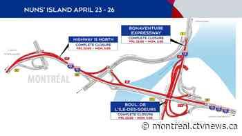 Weekend Traffic: Highway 15, Turcot and Mercier Bridge work will force closures - CTV News Montreal