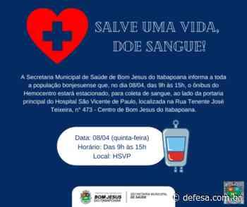 Doação de sangue em 08/04 em Bom Jesus do Itabapoana - Defesa - Agência de Notícias