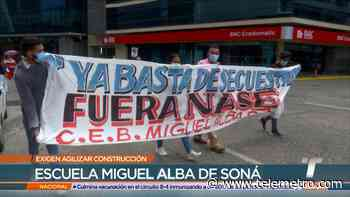 Protestan para exigir culminación de la Escuela Miguel Alba de Soná - Telemetro