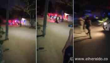 Enfrentamientos en Sabanagrande por 'covid-fiesta' - EL HERALDO