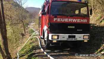 Feuerwehr Bad Urach – Brand oberhalb der Georgii-Siedlung: Waldbrand wegen Trockenheit: Großeinsatz im Steilhang - SWP