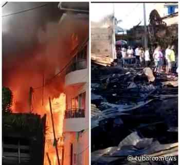 En Olaya Herrera corto circuito habría causado el incendio, casi destruye un barrio completo - TuBarco