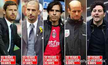 Top 10 youngest Premier League managers after Ryan Mason took charge of Tottenham