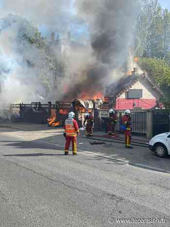 Villeneuve-Saint-Georges: un pavillon squatté part en fumée, la N6 fermée - Le Parisien