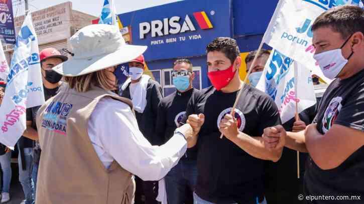 Continúa Maru Campos campaña en crucero de Nuevo Casas Grandes - El puntero