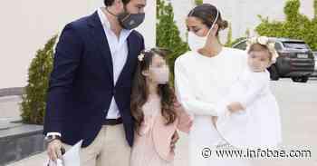 Elena Tablada y Javier Ungría celebran el bautizo de Camila - infobae