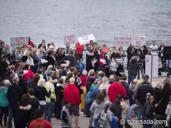 Anti-lockdown protest held Saturday at Dieppe Gardens - Canada.com