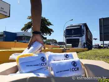 Caminhoneiros ganham kits de higiene em Queluz (SP), na Dutra (BR-116) - Estradas