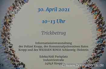POL-FL: Kropp: Enkeltrick & Co - Informationsveranstaltung zum Trickbetrug! - Presseportal.de
