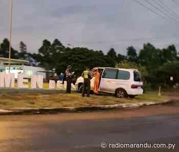 Carmen Del Parana. Daños materiales en accidente de tránsito. - radiomarandu.com.py
