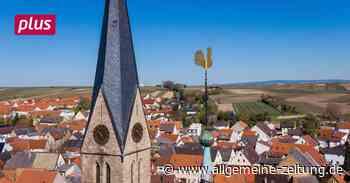 Wieder Wetterhahn auf katholischer Kirche in Nieder-Saulheim - Allgemeine Zeitung