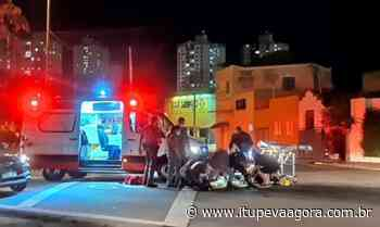 Carro e moto colidem em cruzamento da rua Pitangueiras no Vianelo, em Jundiaí - Itupeva Agora
