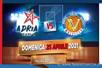 La Virtus Molfetta attesa dall'insidiosa trasferta sul campo dell'Adria Bari - C Gold Girone Puglia - Basketmarche.it