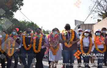 Sin resguardo policial inicia campaña candidata de Morena en Zumpango - Quadratin Guerrero