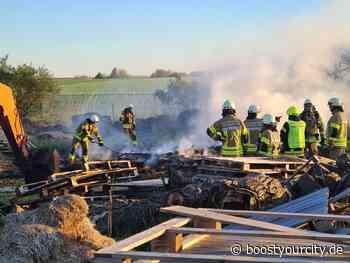 Feuerwehreinsatz: Mehrere Heuballen brannten in Essenheim | BYC-News Rheinhessen Online-Zeitung - Boost your City | Rhein-Main Nachrichten