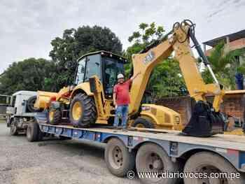 Alcalde de Chazuta adquiere retroexcavadora para su pueblo - Diario Voces
