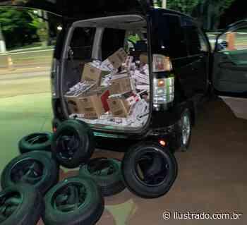 Cigarros e pneus são apreendidos pela PRE em Terra Roxa - Umuarama Ilustrado