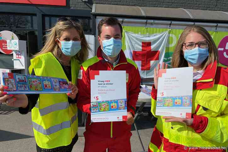 Rode Kruis trekt stickeractie op gang