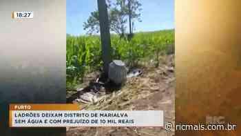 Ladrões deixam distrito de Marialva sem água e com prejuízo de 10 mil reais - RIC - RIC Mais Paraná