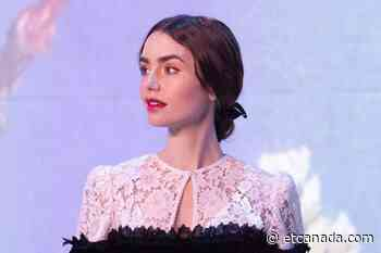 Lily Collins Takes In The Immersive Van Gogh Exhibit In Chicago - ETCanada.com