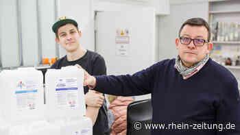 Nach Desinfektionsproduktion in der Krise: Schnapsbrennerei Vallendar hätte gern Schmutzwassergebühren erstattet - Rhein-Zeitung