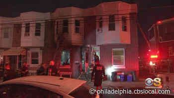 Firefighters Battle Rowhouse Fire In Frankford - CBS Philly