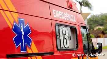 Parade desaba e trabalhador fica ferido em Orleans - Portal Sul Notícias