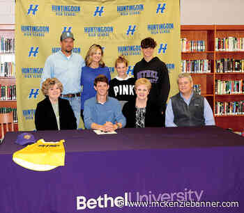 Huntingdon's Warman Signs to Track Scholarship with Bethel - The Mckenzie Banner