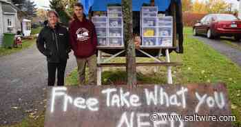 Stellarton man starts free pantry - SaltWire Network