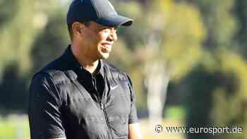 Tiger Woods zeigt sich nach seinem Unfall erstmals wieder der Öffentlichkeit - Eurosport DE