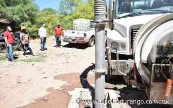 Resuelven problema de drenajes tapados en comunidades de Peñón Blanco - El Sol de Durango