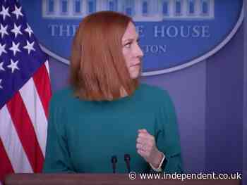 'Maybe it's President Lincoln's ghost': Jen Psaki press briefing interrupted by curious creaking sounds