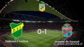 Arsenal de Sarandi se impone a Defensa y Justicia y consigue los tres puntos (1-0) - EnCancha.cl