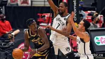 Raptors sputter to finish as Kevin Durant sparks East-leading Nets to victory