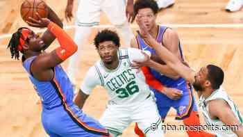 Thunder snap 14-game losing streak against inconsistent Celtics