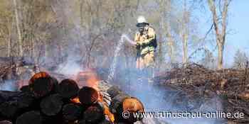 Reichshof: Holz steht in Waldstück lichterloh in Flammen - Kölnische Rundschau