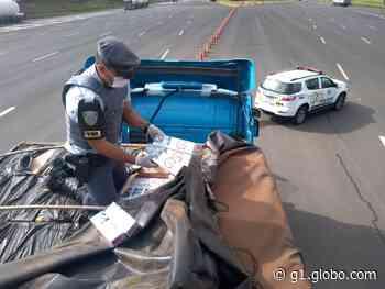 Polícia apreende caminhão com carga de cigarros contrabandeados em rodovia de Itatinga - G1