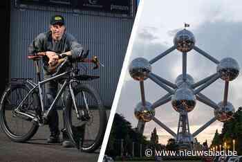 LIVE. Peltenaar fietst trappen van het Atomium af (en de wereld rond) voor het goede doel
