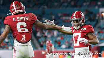 Alabama producing first-round wide receivers like no other college ever