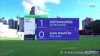 Def. de Belgrano Y San Martín (SJ) igualaron 1-1 - TyC Sports