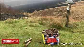 Marsden Moor: Fireworks found near wildfire site