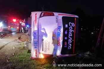 Un muerto en accidente de buseta en Silvania, Cundinamarca - Noticias Día a Día